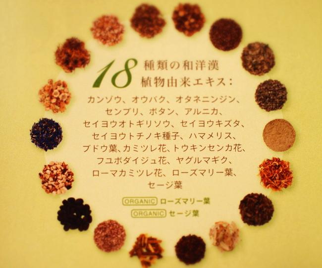 uruotteに配合されている和漢植物エキス 一覧