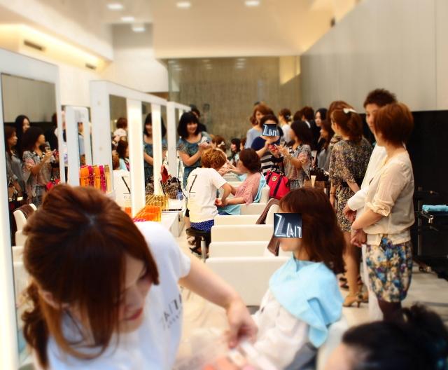 ZAZAaoyama レセプションパーティー ブログ